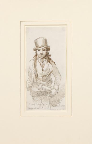PRINSEP James (1799-1840) - Hurdy gurdy player singing La Marmotte (Goethe lyrics set to music by Beethoven).