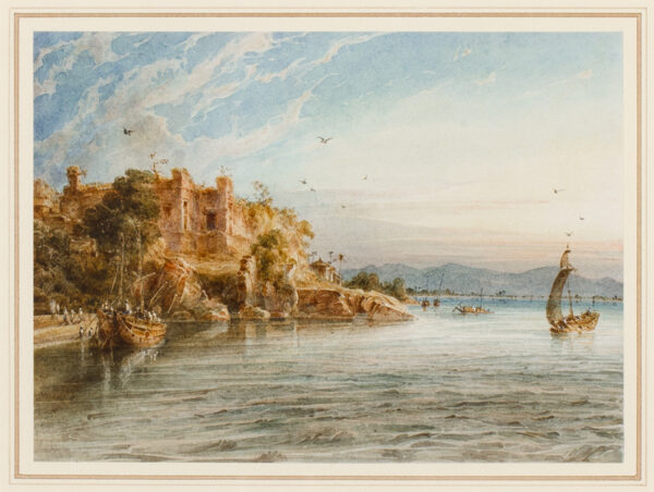 PRINSEP Thomas (1800-1830) - India: 'Sunset at Rajmahal'.
