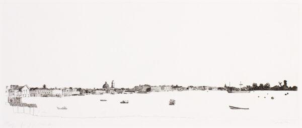 PROCKTOR Patrick R.A (1936-2003) - Venetian panorama.