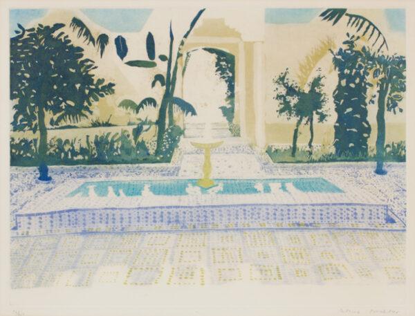 PROCKTOR Patrick R.A. (1936-2003) - 'Favourites Courtyard' Aquatint.