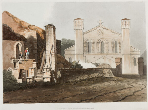 PROUT Samuel O.W.S. (1783-1852) - Hand coloured aquatint with soft ground etching.