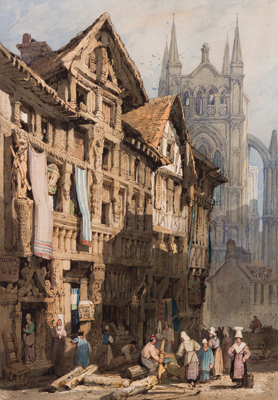 PROUT Samuel O.W.S. (1783-1852) - Cathedral town, Northern France.