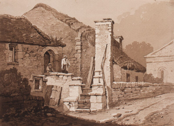 PROUT Samuel O.W.S. (1783-1852) - Cottage and chapel.