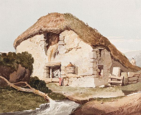 PROUT Samuel O.W.S (1783-1852) - Cottage in Devon.
