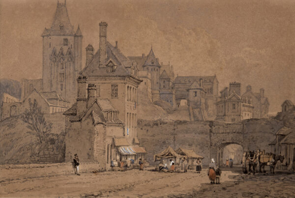 PROUT Samuel (1783-1852) - The entrance to Dieppe.