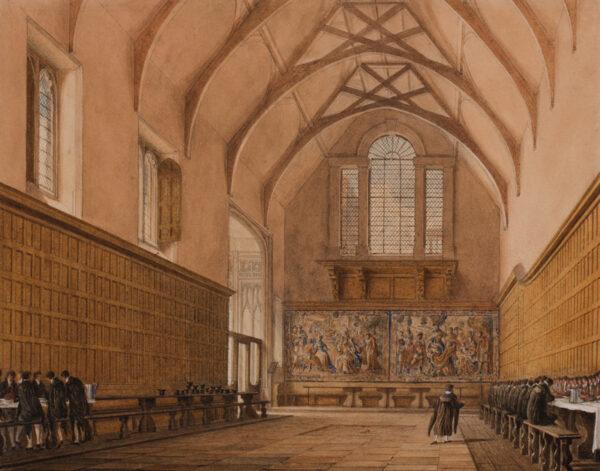 PUGIN Charles Augustus (1762-1832) - 'The Hall of Eton College'.