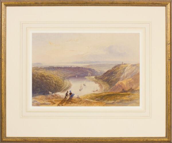 PYNE James Baker (1800-1870) - A view down the Avon Gorge.