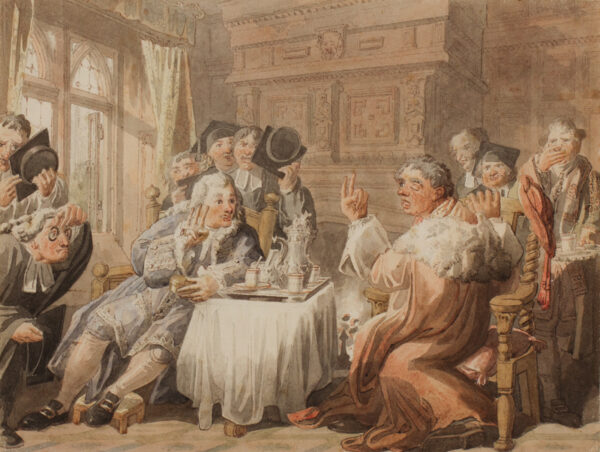 PYNE William Henry O.W.S. (1769-1843) - 'Obadiah and the Ambassador'.