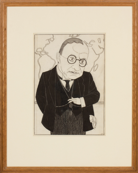 EVANS Powys 'Quiz'. (1899-1981) - 'The Editor': James Louis Garvin (1868-1947) edited  The Observer from 1908-1942.