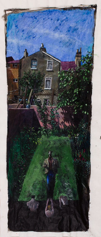 RAPHAEL Sarah (1960-2001) - 'What came ye out of the wilderness to see?'  Acrylic on paper.
