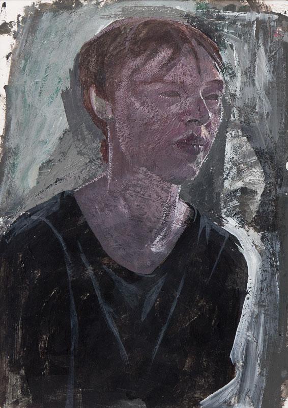 RAPHAEL Sarah (1960-2001) - Oil 0n paper.