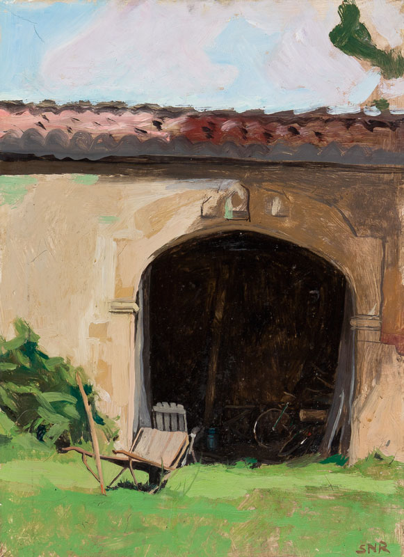 RAPHAEL Sarah (1960-2001) - 'Bicycle in a Barn'.