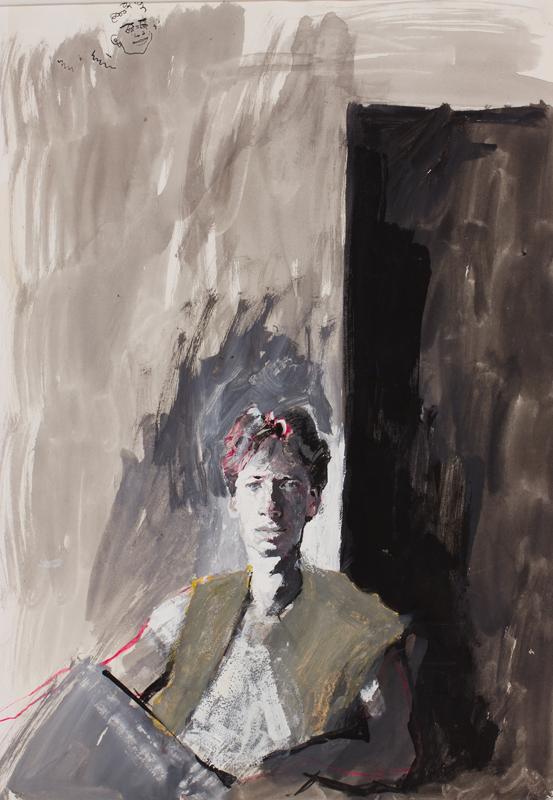RAPHAEL Sarah (1960-2001) - 'Portrait of Nick'.