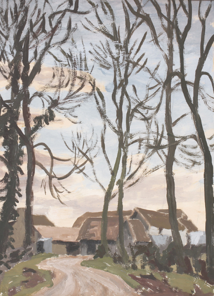 RAVERAT Gwen R.E. (1885-1957) - Farm near Haslingfield, Cambridgeshire.