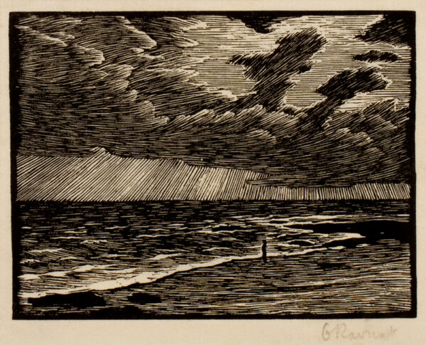 RAVERAT Gwen S.W.E. (1885-1957) - 'On the Shore'.