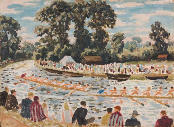 RAVERAT Gwen S.W.E (1885-1957) - Boat race, Cambridge.