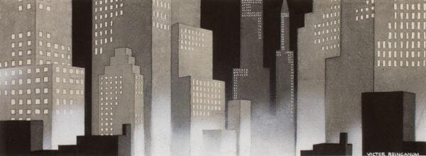 REINGANUM Victor (1907-1995) - Manhattan.