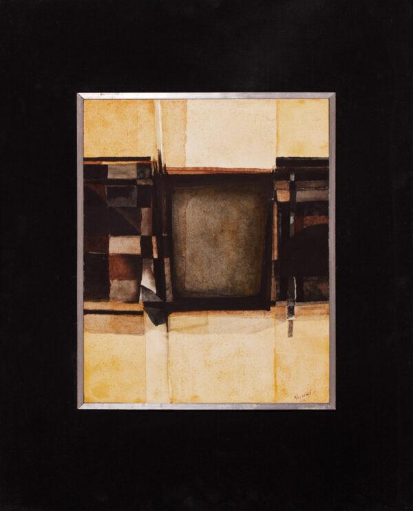 REYNOLDS Alan (b.1926) - 'Forms black and yellow'.