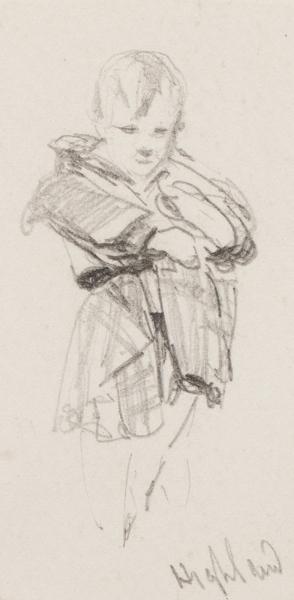 RICHARDSON Thomas Miles Jnr R.W.S. (1813-1890) - 'Highland' study.