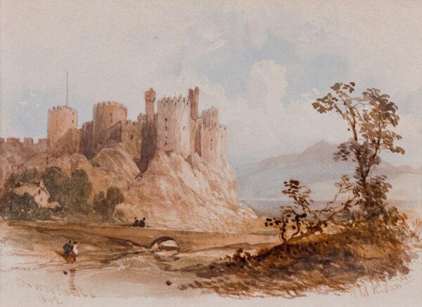 RICHARDSON Thomas Miles Jnr R.W.S (1813-1890) - 'Conway Castle'.