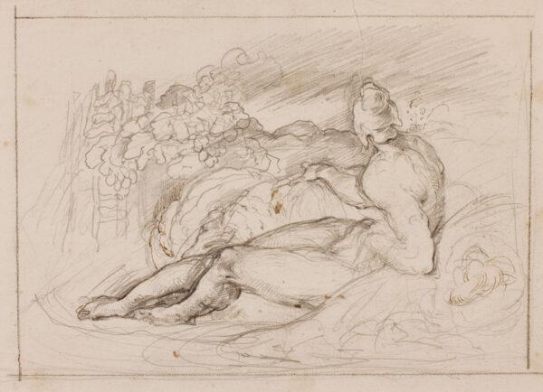 RICHMOND George (1809-1896) - 'A Shepherd Waking'.