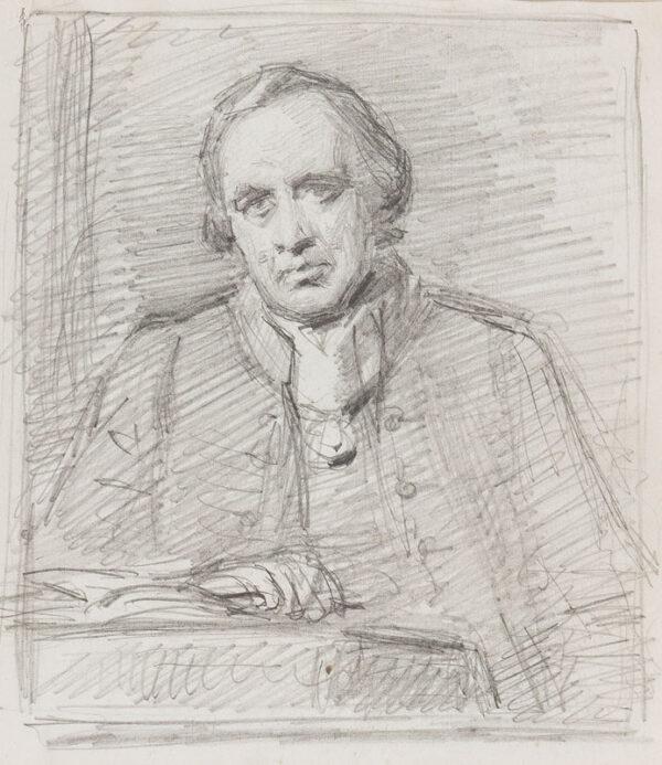 RICHMOND George R.A. (1809-1896) - Study of a reading man.