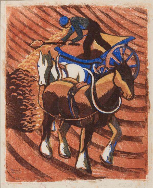 RECKITT Rachel (1908-1995) - 'Farm Cart'.