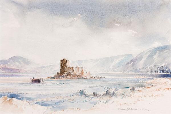 ROBERTSHAW Norman (1925-2013) - 'Barra, the windswept Island … with Kisimul (sic) Castle'.
