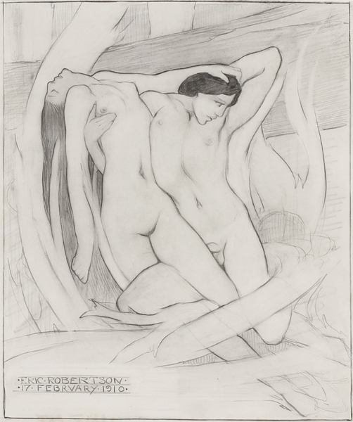 ROBERTSON Eric (1887-1941) - The Lovers.