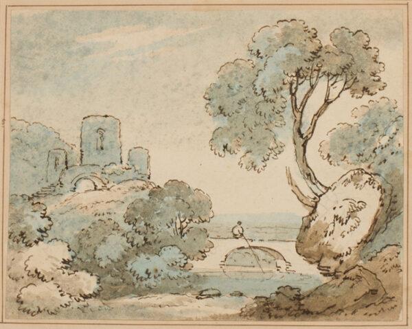 ROBERTSON 'Drunken' (fl.1815-1836) - Romantic landscape.