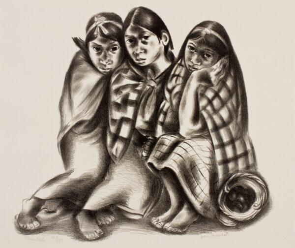 ROSENTHAL Doris (1889-1971) - 'Plum Girls', Mexico.