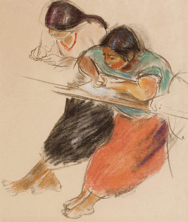 ROSENTHAL Doris (1889-1971) - Mexican girls writing.
