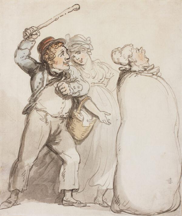 ROWLANDSON Thomas (1756-1827) - A Gossip's reward.