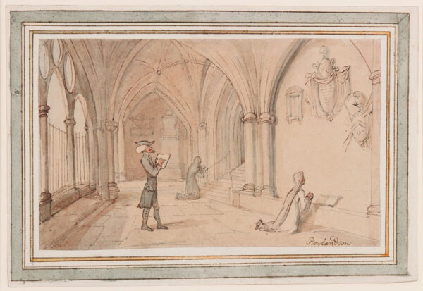 ROWLANDSON Thomas (1756-1827) - 'The Cloisters'; Dr Syntax in search of the picturesque.