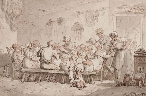 ROWLANDSON Thomas (1756-1827) - A family meal.