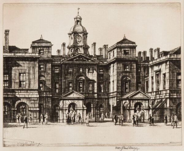 RUSHBURY Sir Henry R.A. R.E. (1889-1968) - 'Horse Guards, Whitehall' (JR.
