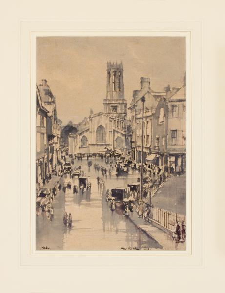 RUSHBURY Sir Henry R.A. (1889-1968) - 'York', in the rain.