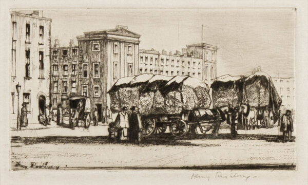 RUSHBURY Sir Henry R.A. R.E. (1889-1968) - 'Cumberland Market' (JR9).