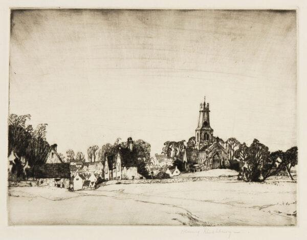 RUSHBURY Sir Henry R.A. R.E. (1889-1968) - 'Minchinhampton Church' (JR.