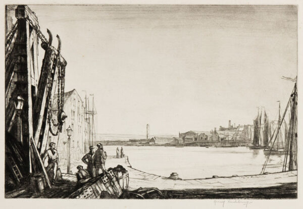 RUSHBURY Sir Henry R.A. R.E. (1889-1968) - 'The Harbour, Lowestoft' (JR.