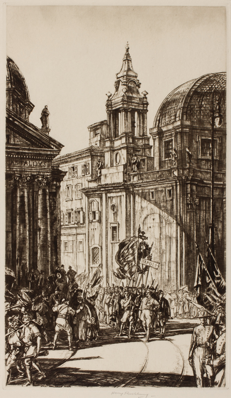 RUSHBURY Sir Henry R.A. R.E. (1889-1968) - 'Fascisti, Roma'.