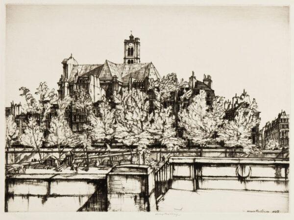 RUSHBURY Sir Henry R.A. R.E. (1889-1968) - 'St Gervais, Paris' (JR.