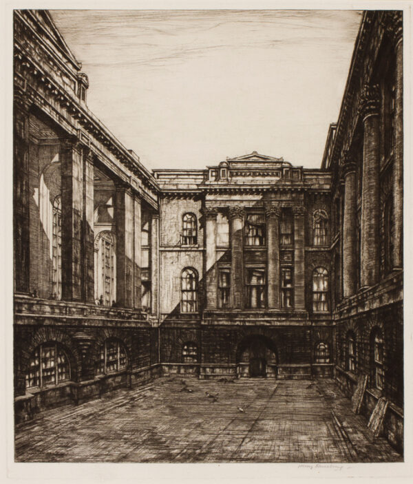 RUSHBURY Sir Henry R.A. R.E. (1889-1968) - 'Governors Court, Bank of England' (JR66).