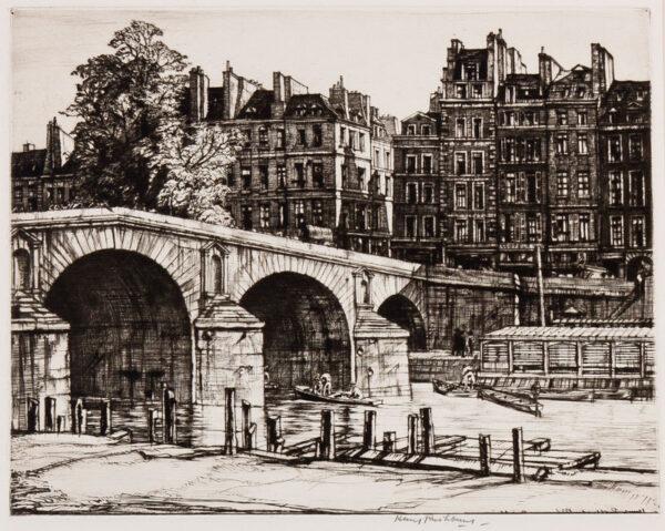 RUSHBURY Sir Henry R.A. R.E. (1889-1968) - 'Pont Marie, Paris' (JR 55).