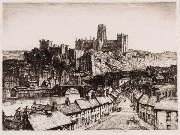 RUSHBURY Sir Henry R.A. R.E. (1889-1968) - 'City of Durham' (JR 74).