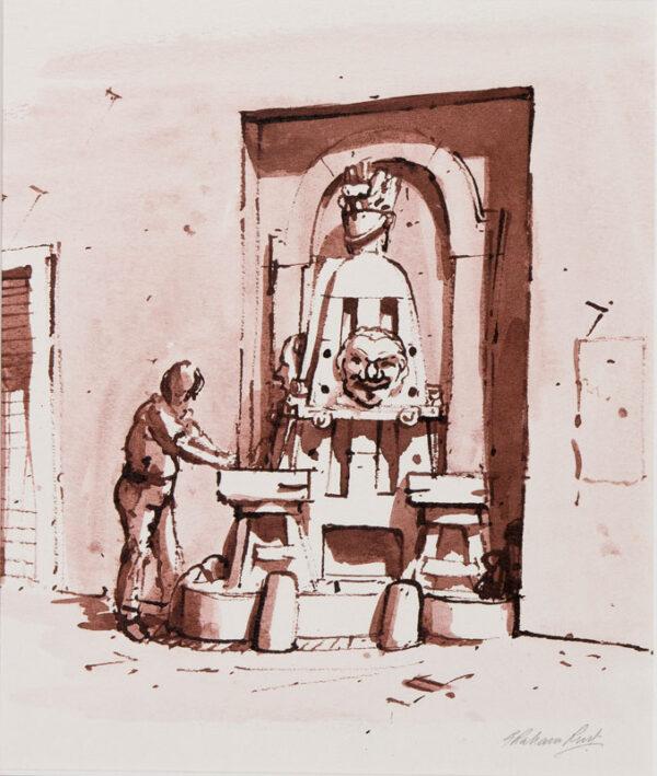 RUST Graham (b.1942) - 'Rome', the via Margutta.