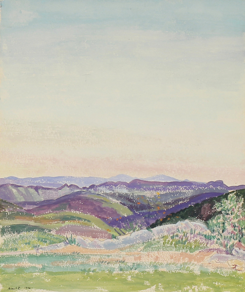 RUTHERSTON Albert R.W.S. N.E.A.C. (1881-1953) - 'View from the Plateau Napoleon, Grasse'.