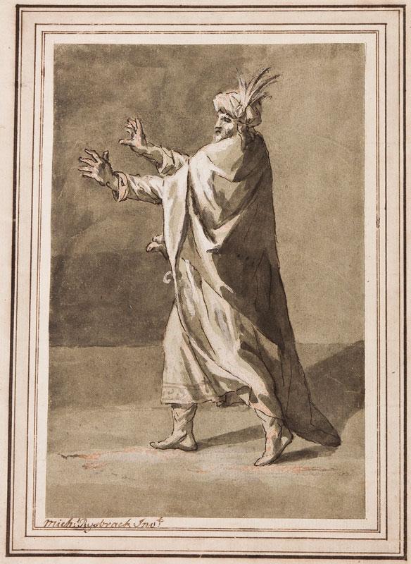 RYSBRACK John Michael (1694-1770) - Dramatic, turbaned figure.
