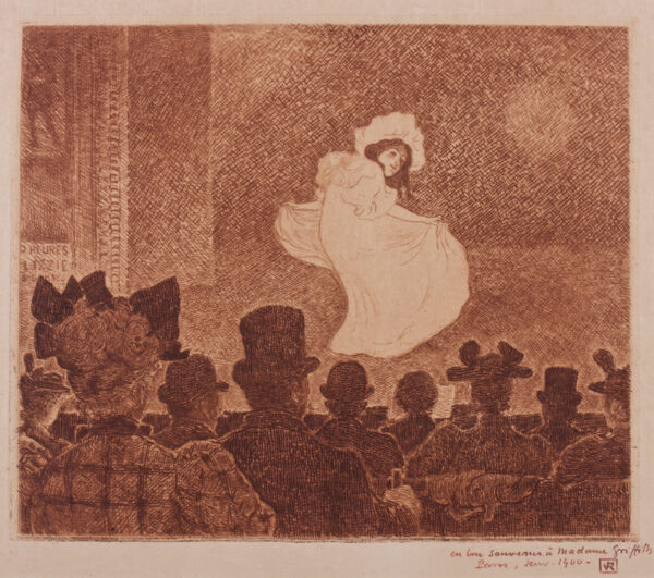 RYSSELBERGHE Theo van (1862-1926) - ' Le Café Concert' (Jonson136) Etching printed in sepia.