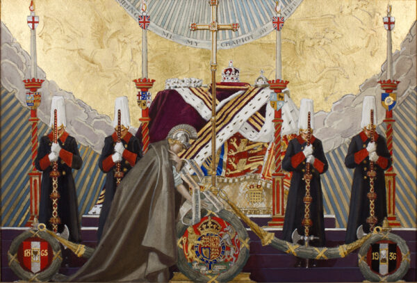 SALISBURY Frank O R.I. R.P (1874-1962) - The lying-in-state of King George V in Westminster Hall, 23rd-28th January 1936.